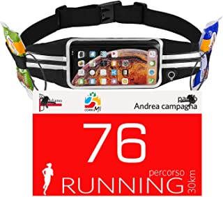 Running Belt Phone Pouch : Runner Race Belt Waist Pack with Water Resistant Reflective Light weight for iPhone Xs Max XR X 8 7 6 Plus Samsung Galaxy Note for Sport Travel Workout for Men Women