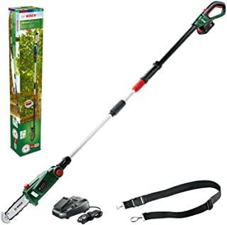 Bosch Home and Garden 06008B3170 Home and Garden UniversalChainPole 18 Cordless Telescopic Chainsaw with 18 V Lithium-Ion ...