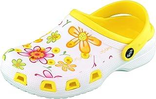 Brandsseller Zoccoli Donna | Scarpa Giardino | Pantofole | Scarpe da Bagno | Sandali Ciabatte | Motivo Floreale