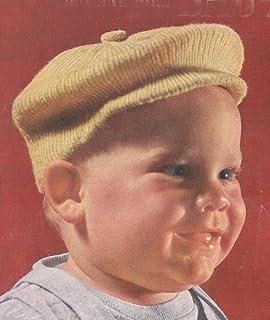 Little Jack Horner Newsboy Hat Cap Tam for Baby Vintage Knit Knitting Pattern