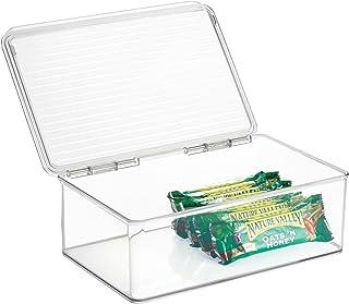 InterDesign Cabinet/Kitchen Binz box rangement, très grande boite conservation empilable plastique, organisateur cuisine a...