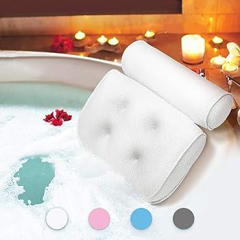 ESSORT バスピロー お風呂枕 浴槽用 3D リラックス 巣ごもり 母の日 ギフト ホワイト
