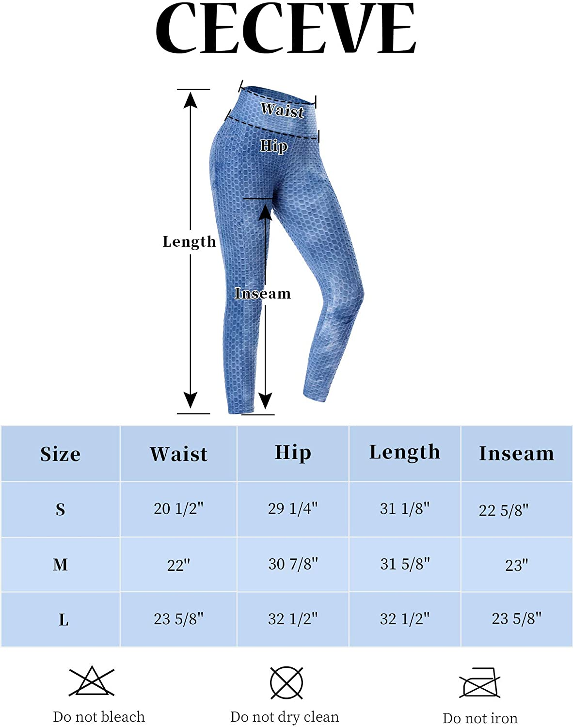CECEVE Butt Lift Leggings for Women TIK Tok Workout High Waisted Yoga Pants Tummy Control Tights with Pockets