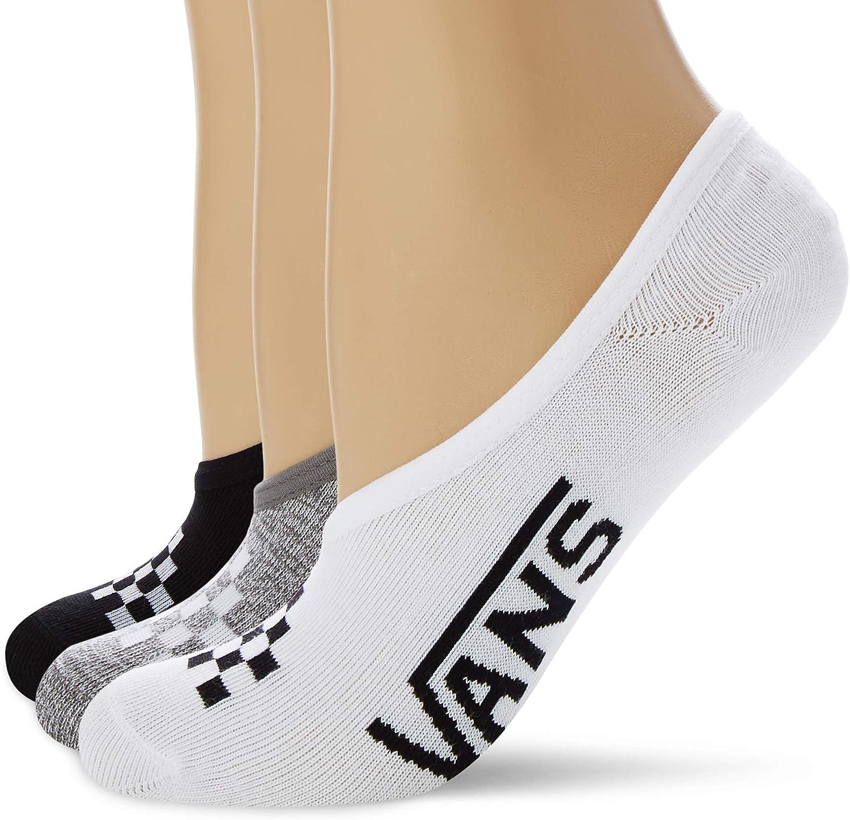 Vans Girls' No Show Canoodle Socks - 3 Pack - Girls Shoe Size, Multi, Size 7-9