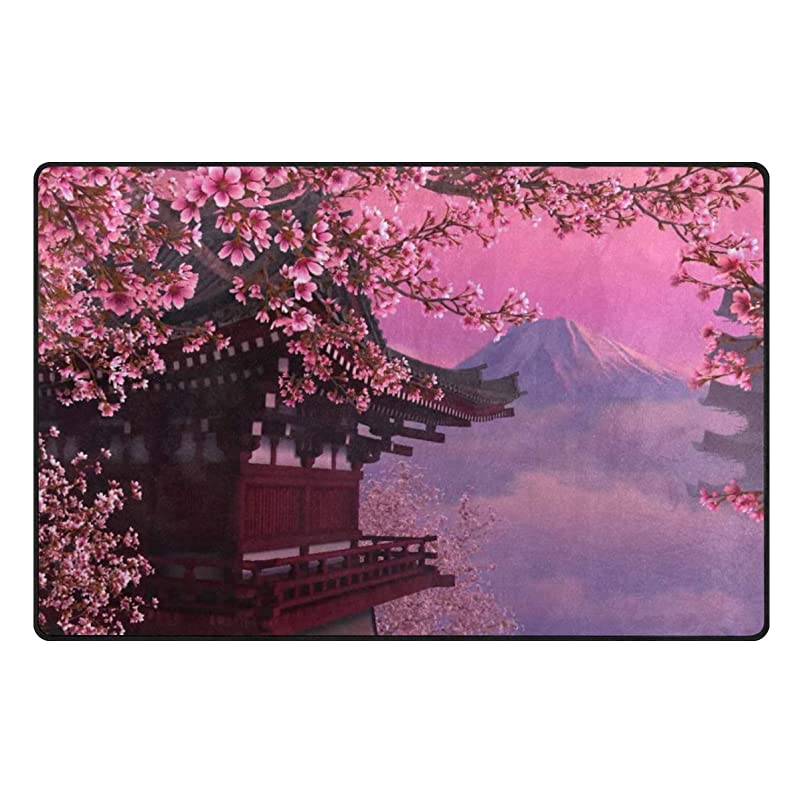 pengyong Beautiful Pavilion and Plum Blossom Non-Slip Floor Mat Home Decor Door Carpet Entry Rug Door Mat for Outdoor/Indoor Uses nvzygoxt222991