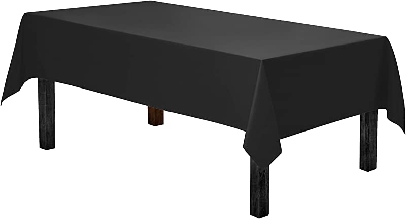 Gee Di Moda Rectangle Tablecloth 60 X 84 Inch Black Rectangular Table Cloth For 5 Foot Table In Washable Polyester Great For Buffet Table Parties Holiday Dinner Wedding More