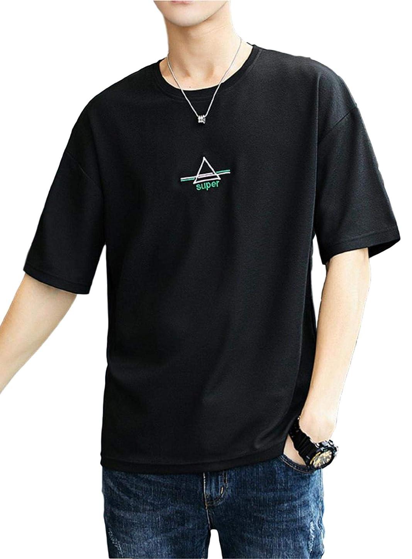 脚本家作詞家しょっぱい[アルトコロニー] ワンポイント カットソー ロゴ ティーシャツ スポーツ 半そで ユッタリ カジュアル 綿 M ~ XL メンズ