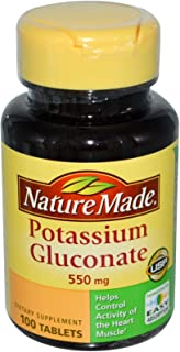Nature Made, Potassium Gluconate, 550 mg, 100 Tablets - 2pc