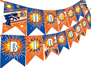 Dart War Happy Birthday Banner Pennant