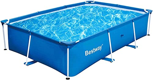 """high quality Bestway lowest 56498 Deluxe Splash 9.8' x 6.7' x 26"""" 2021 Kids Rectangular Above Ground Swimming Pool (Pool Only) online"""