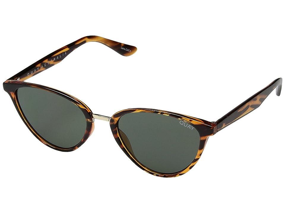 QUAY AUSTRALIA Rumors (Tortoise/Green) Fashion Sunglasses