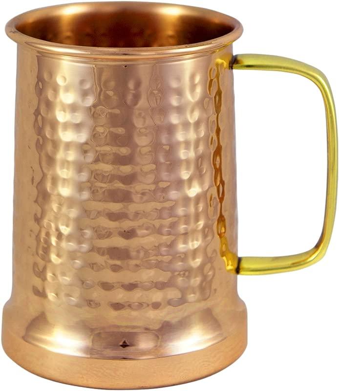 Alchemade Copper Beer Stein 100 Pure Hammered Copper Mug Heavy Gauge No Lining 20oz