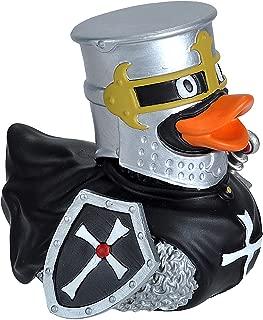 Ducks in the Window Knight Black Rubber Duck, Bath Toy, Gifts, No-Mold, Wild Republic