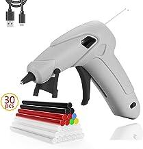 Cordless Hot Glue Gun with 30PCS Glue Sticks, USB Rechargeable Portable Mini Glue Gun Kit..