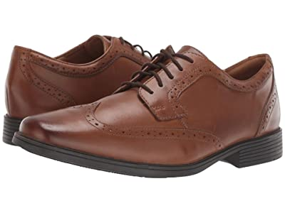 Clarks Tilden Wing (Dark Tan Leather) Men