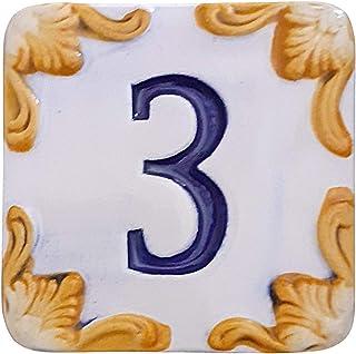 Numero civico in ceramica per esterno personalizzato Colore blu o rosso mattone Numeri e lettere