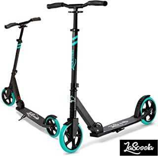 Lascoota Scooters for Kids 8 Years and up - Featuring Quick-Release Folding System - Dual Suspension System + Scooter Shoulder Strap 7.9