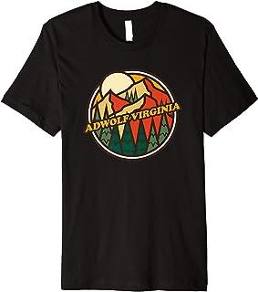 Vintage Adwolf, Virginia Mountain Hiking Souvenir Print Premium T-Shirt