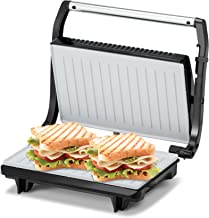 KENT 16025 Sandwich Grill 700W | Non-Toxic Ceramic Coating | Automatic Temperature Cut-off with LED Indicator | Adjustable...