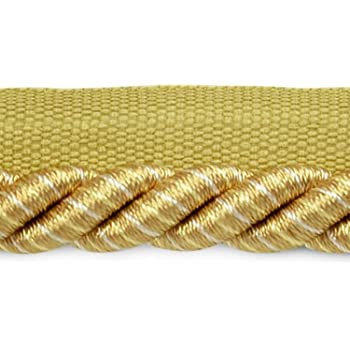 D/ÉCOPRO 10 Yard Value Pack of Large Gold 30 Ft // 9 Meters Green 7//16 inch Imperial II Decorative Cord Without Lip Style# 716I2 Color: Holiday Splendor Wine 3752