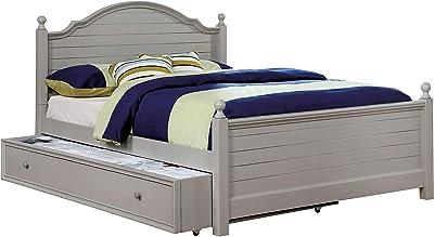 247SHOPATHOME Decker Panel Kids Bed, Double, Gray