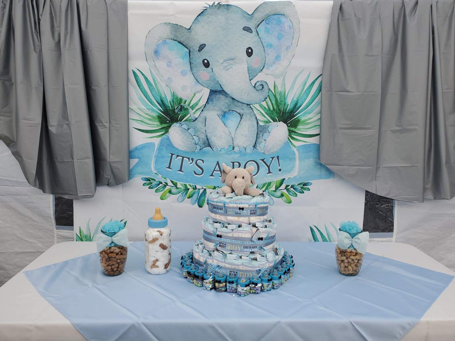 Baby Boy Elephant cutouts Elephant centerpiece Little peanut baby shower It/'s a Boy Elephant 1st Birthday bow tie top hat cake 18 Die cuts