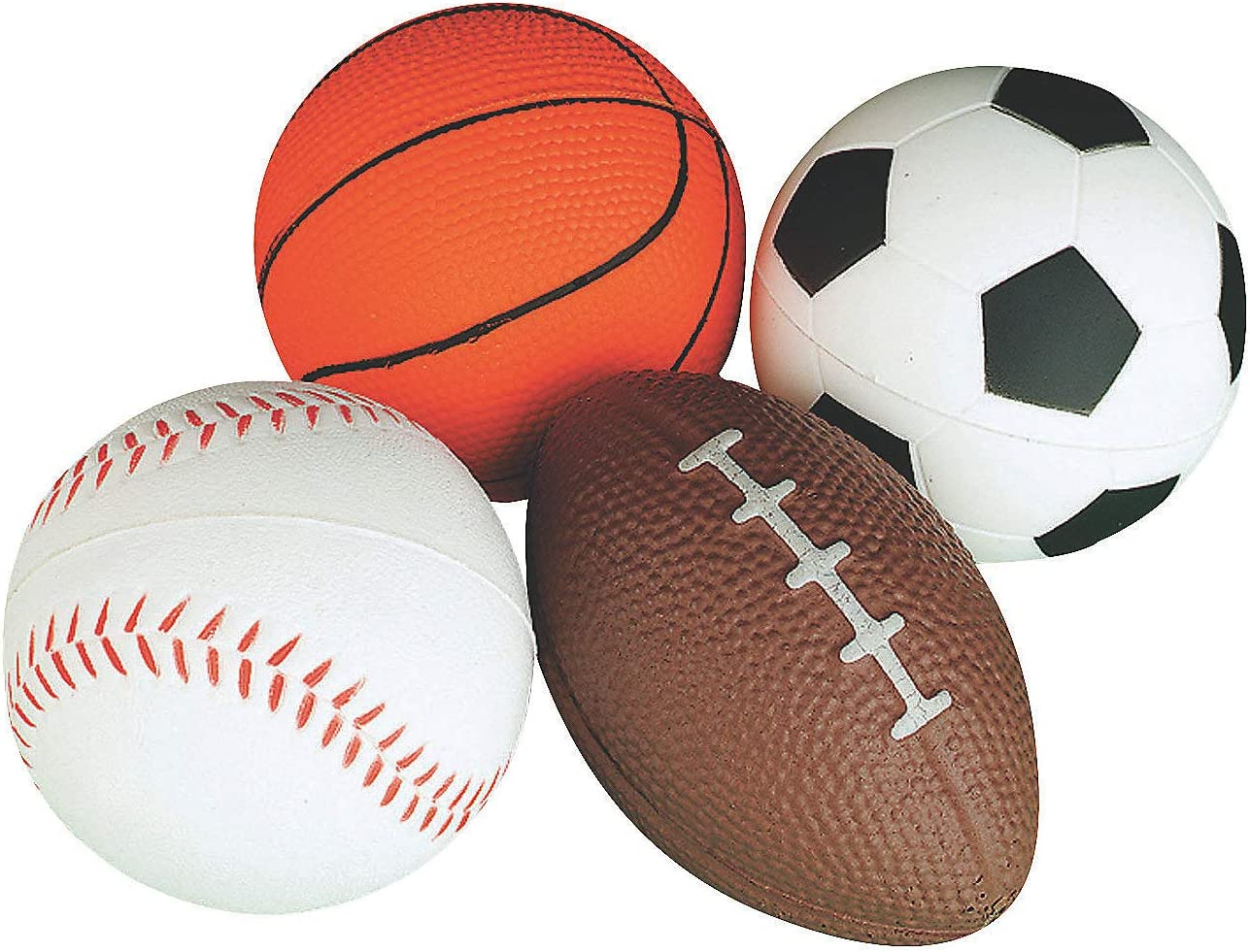Amazon Com Relaxable Balls Foam Sports Balls 1 Dz Toys Games