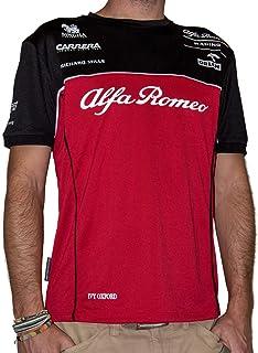 تي شيرت ألفا روميو راسينج للرجال 2020 تي شيرت أحمر/أسود/أبيض، S