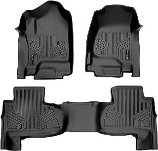 SMARTLINER Custom Floor Mats 2 Row Liner Set Black for 2015-2019 Chevrolet Suburban/GMC Yukon XL (with 2nd Row Bench Seat)
