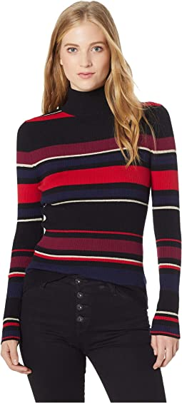 Herrick Turtleneck Striped Top