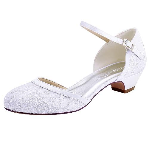 Low Heeled Bridal Shoes Amazon Co Uk