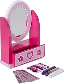 Melissa & Doug 19526 Decorate-Your-Own Wooden Vanity Craft Kit with Mirror and Storage Drawer
