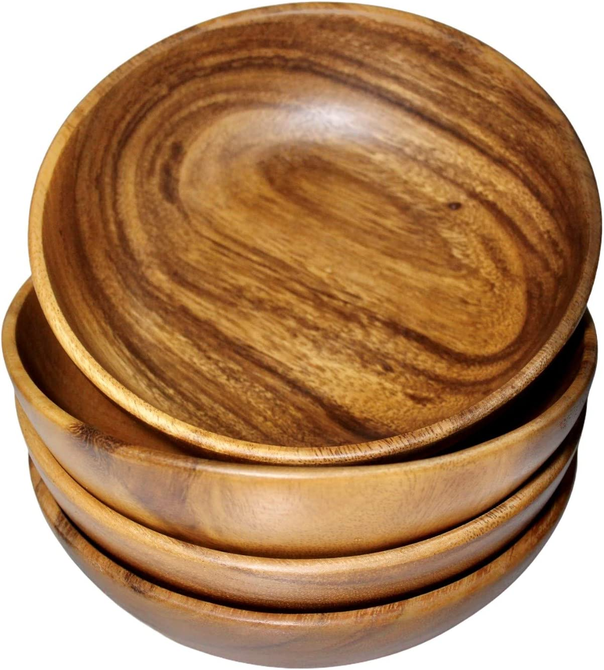 Wrightmart Wood Bowl Wooden Salad Set Popularity 4 Individual Bow OFFicial shop of