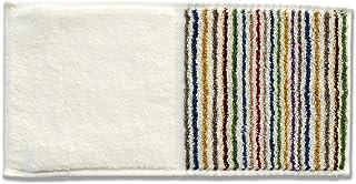 今治タオル ハンカチ 縞縞×ゴールドパール ハーフ タオル 06白多彩×白雨