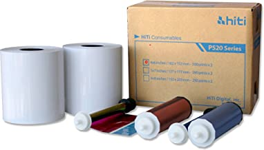 """HiTi 4x6"""" Media for Photo Printer P520 & P520L, 500 Sheets to a Roll, 2 Rolls in a Box, 152x102mm"""