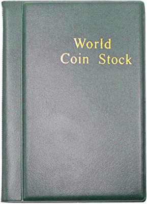HEALLILY Coin Holder Collection Coin Storage Album Book for Collectors Black