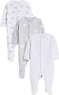 next Newborn Baby Jungen Schlafanzug aus GOTS-Biobaumwolle 3er-Pack