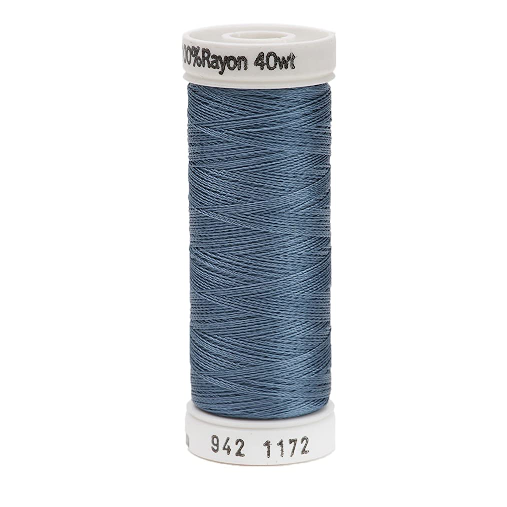 Sulky Rayon Thread for Sewing, 250-Yard, Medium Weathered Blue