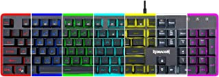 Redragon Dyaus K509 Semi Mechanical Gaming Keyboard with 7 RGB Backlit Colors on Keys & Edge Side Light Illumination