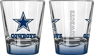Boelter Brands NFL Dallas Cowboys Elite Shot Glass, 2-Ounce, 2-Pack