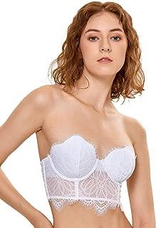 corset style strapless bra