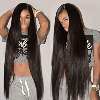 Flady Brazilian Straight Hair 4 Bundles (20 22 24 26inch) 100% Unprocessed Virgin Hair Human Hair Weave Natural Black Color Straight Hair Bundles