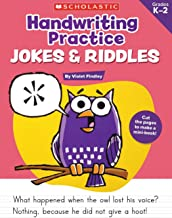 Handwriting Practice: Jokes & Riddles PDF