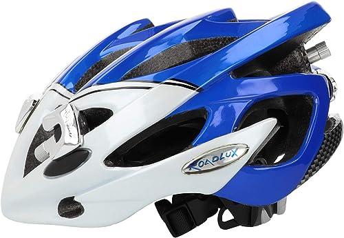 Roadluxhelm Gr.S (50-54cm) Fahrradhelm LED-Leuchten Helm blau Weiß