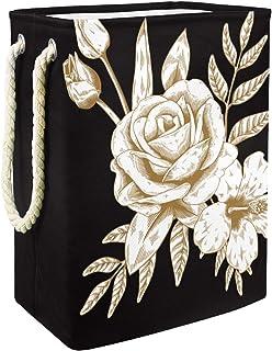 Vockgeng Rose d'or Accueil Organisation Panier de Rangement imperméable Pliable de Jouets de Jouets de Panier avec des poi...
