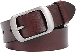 WHIPPY Reversible Women/Men Belt Leather Dress Belts for Jeans Pants Rotating Buckle for 2 Colors