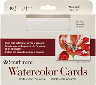 Strathmore 105-150 Watercolor Cards, Full Size Cold Press, 10 Cards & Envelopes