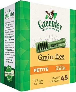 Greenies 27 OZ, Grain Free Dental Chews Petite Size for Dogs
