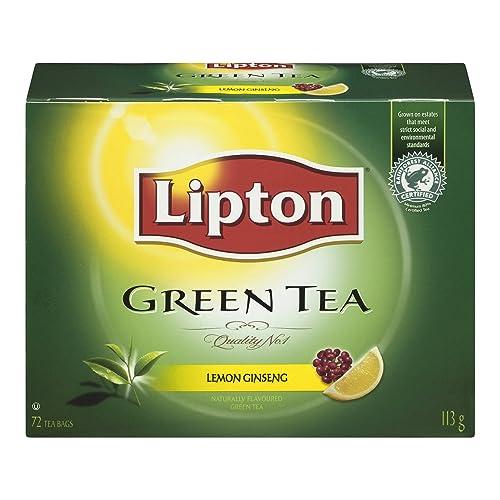 Lipton Green Tea Lemon Ginseng Tea 72 1N