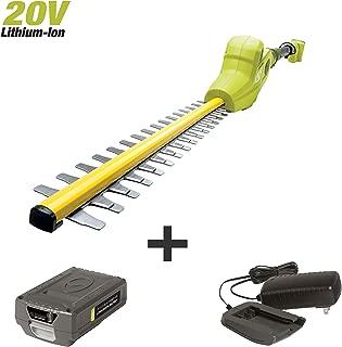 Sun Joe 20VIONLTE-PHT17 Cordless Telescoping Pole Hedge Trimmer, Kit (w/2.0-Ah Battery + Quick Charger)